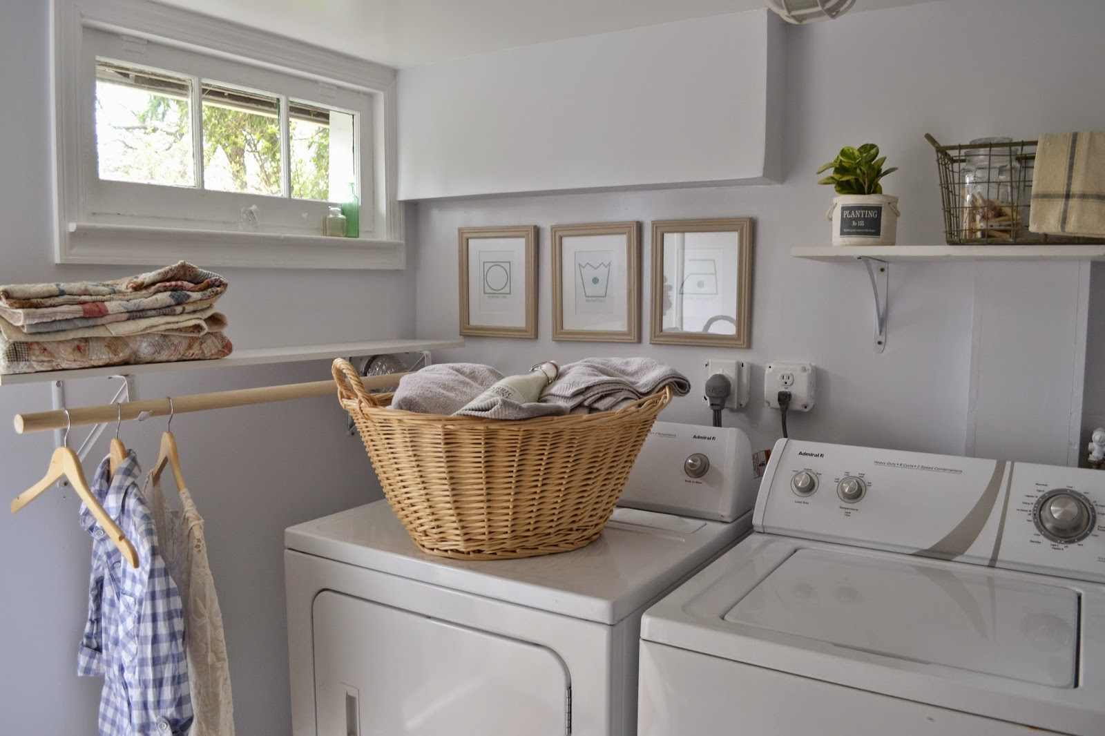 Attic Lace Laundry Room Reveal
