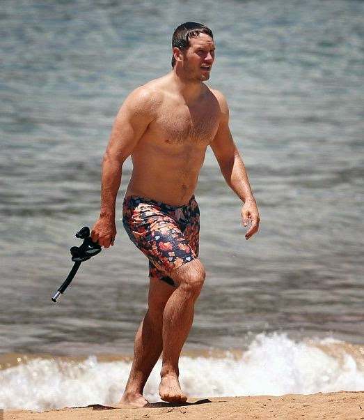 She has a good slender frame and Anna Faris hit the beach in Hawaii with husband, Chris Pratt on Friday May 23, 2014, she looked slimmer than ever.