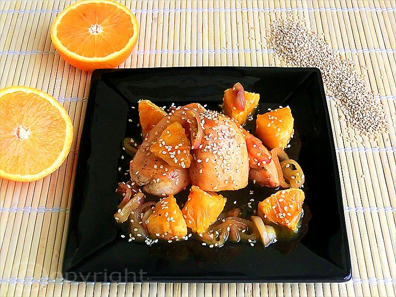 petto di pollo con salsa d'arance