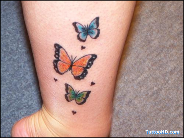 butterfly tattoos on ankle. Black Bedroom Furniture Sets. Home Design Ideas
