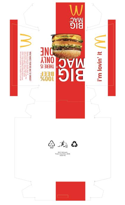 burger box pattern 2