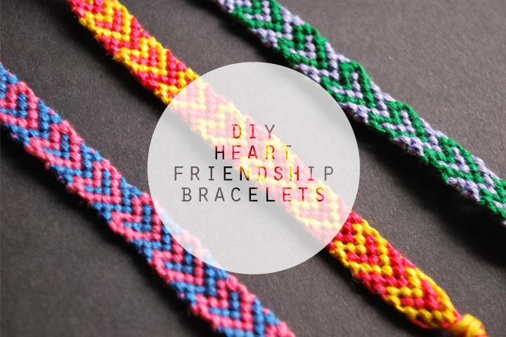 the diy heart friendship bracelets