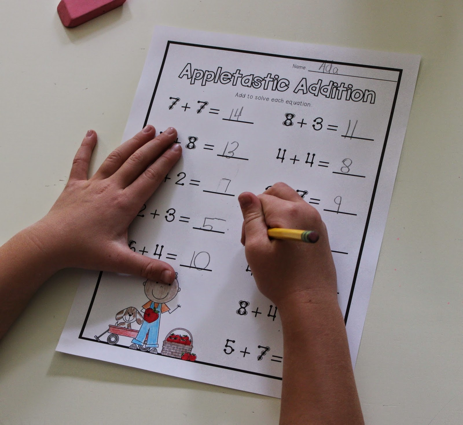 School Is a Happy Place Getting to the Point With Touch Math – Touch Math Worksheets Printable