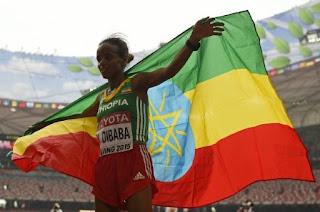 ATLETISMO - Mare Dibaba ofrece primer título mundial femenino de maratón a Etiopía