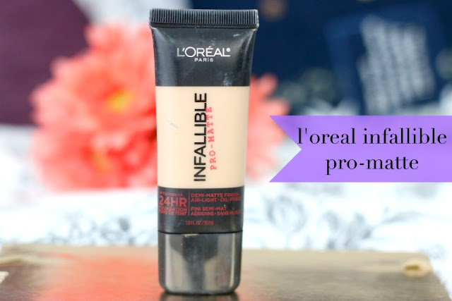 loreal infallible pro-matte foundation review