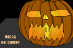 Cute Online Cartoon Pumpkin Carving Game