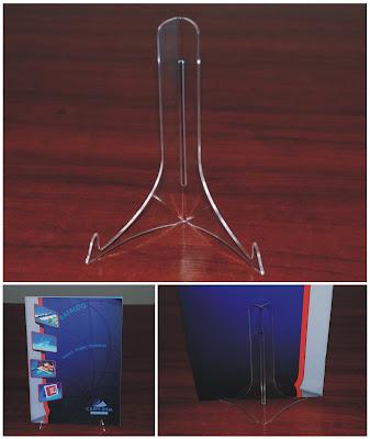 Podstawka z plexi na książkę lub katalog