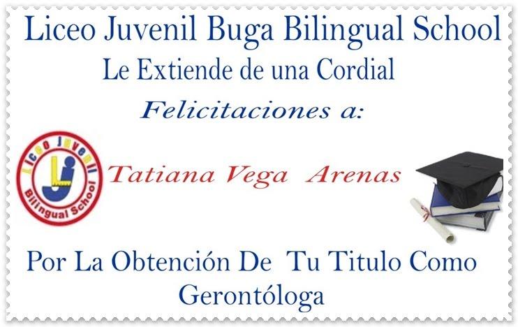 Liceo Juvenil Bilingual School: Felicitaciones Por Grado