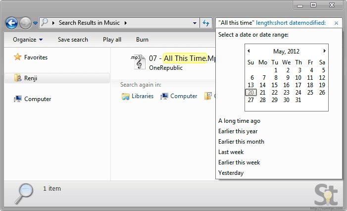 Windows Advanced Search