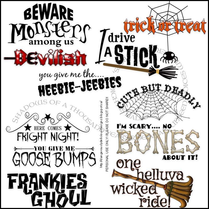 halloween word art part 2