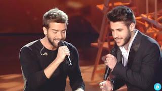 Pablo Alborán y Antonio José cantan Tanto-Final La Voz 2015