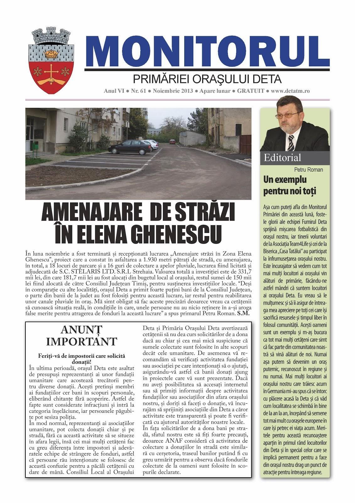 Monitorul - noiembrie 2013