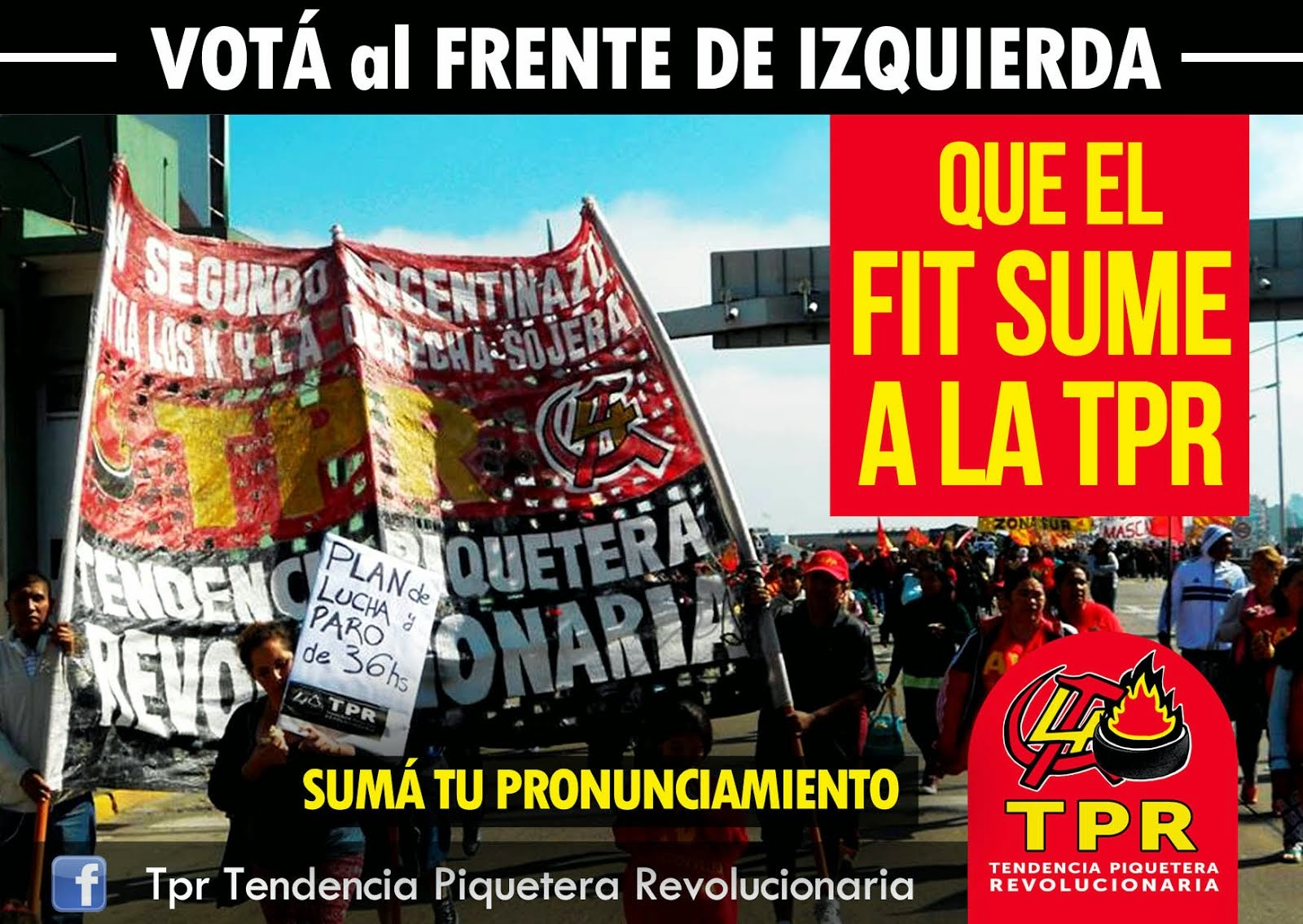 Elecciones 2015: Que el FIT sume a la TPR