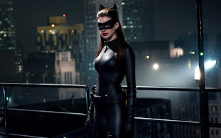 Anne Hathaway Leather Costume HD Wallpaper