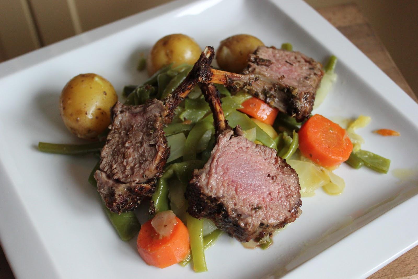Jessy 39 s kitchen carr d 39 agneau r ti et l gumes d 39 t - Roti d agneau cuisson ...