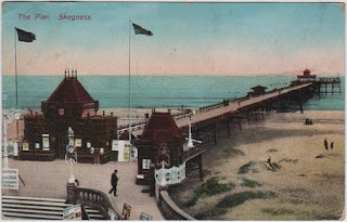 Vintage postcard of the pier, Skegness, Lincolnshire