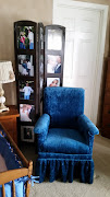 Chair and photo frame tower