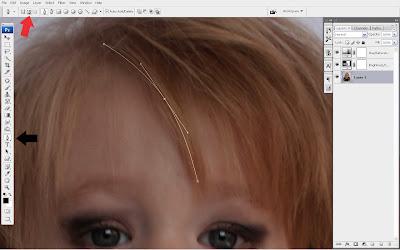 tutorial+smudge+hair+(2) Trik Smudge Painting Bagian Rambut dengan Photoshop