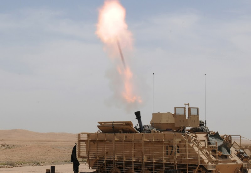 120mm Mortar Ammunition : Us army soldiers firing mm mortar round global