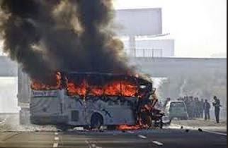 enugu bus on fire