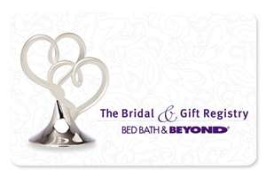 Wedding Gift Ideas Bed Bath Beyond : it doesnt cost you anything :-)