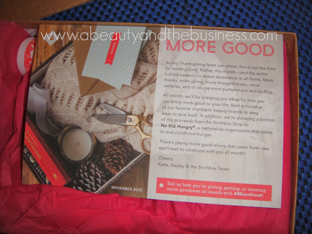 birchbox, November birchbox, november birchbox 2013, birchbox more good,
