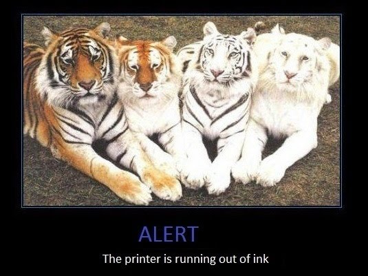 Alert - The Printer Is Running Out Of Ink