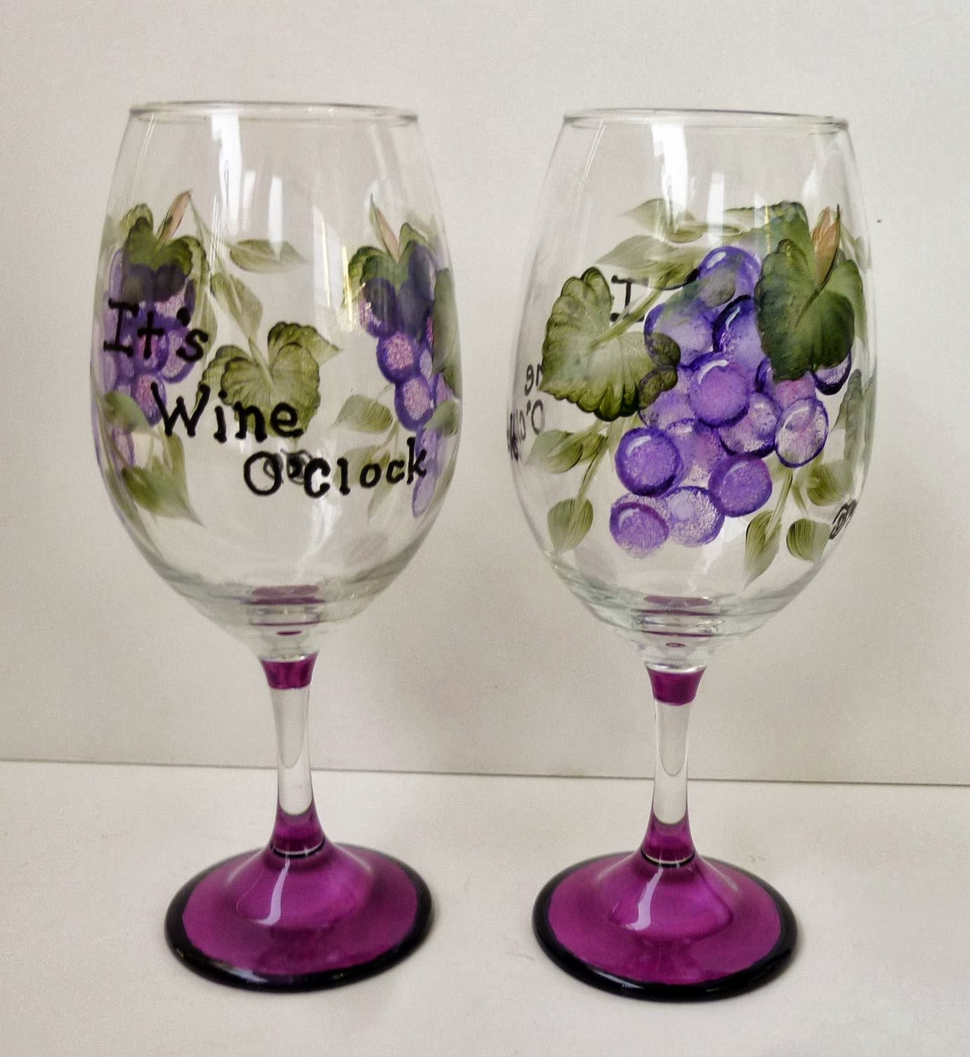 Danelle 39 S Designs Wine Glasses