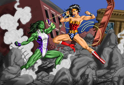 Wonder Woman vs She-Hulk