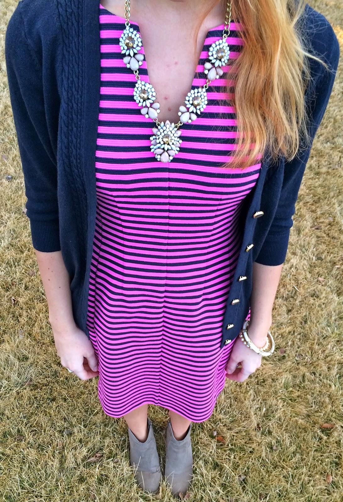 Sweet Bananie: wine and a pretty dress + sweater #27