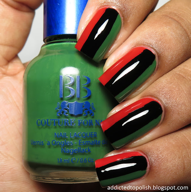 pan african flag nails