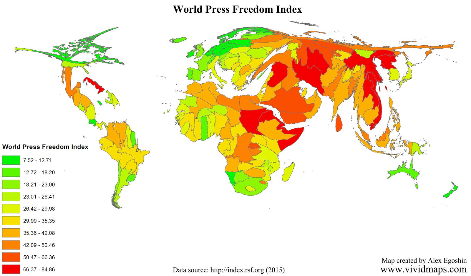 World Press Freedom Index 2015