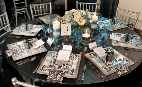 Black And White Damask Wedding Decorations | Living Room Interior ...