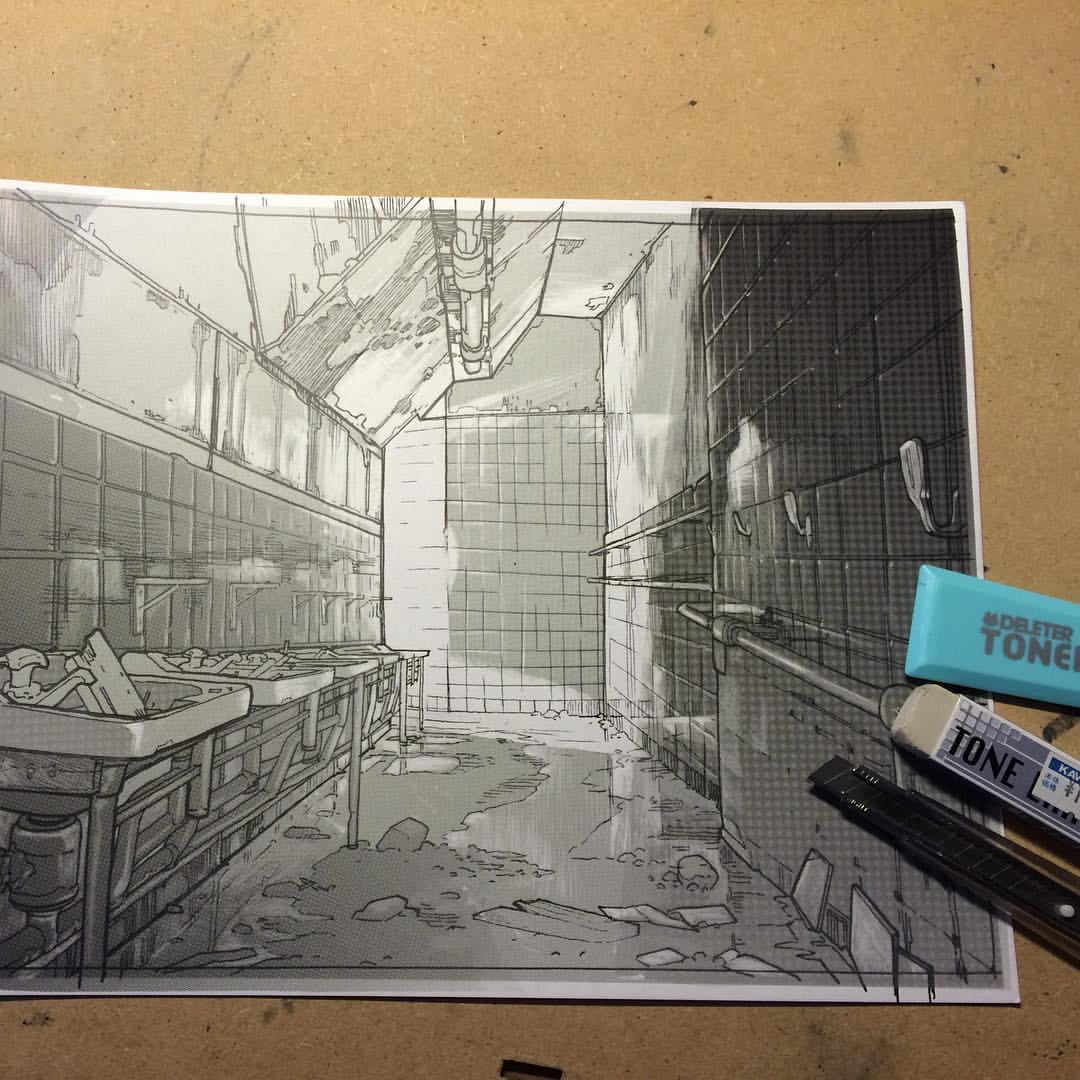 screentone background for my manga book