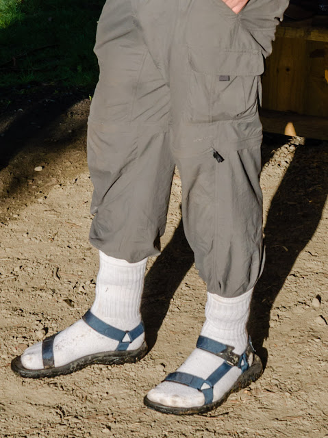 white socks worn with teva sandals