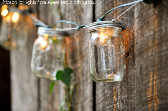 Outdoor Jar String Lights : 17+ Outdoor Lighting Ideas for the Garden Scattered Thoughts of a Crafty Mom