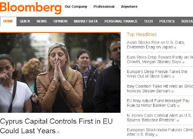 Bloomberg: Στα πρόθυρα ενός άνευ προηγουμένου πειράματος η Κύπρος
