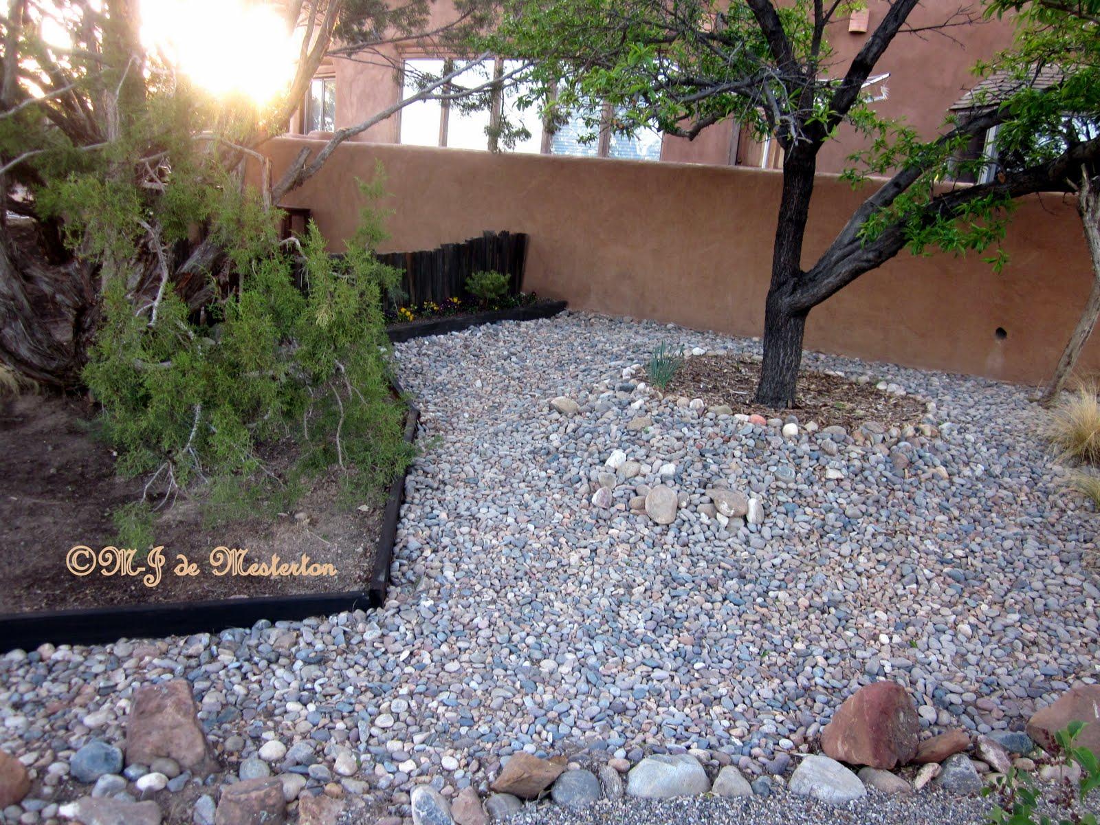 Elegant gardening tree mulching for water conservation for Garden design ideas using gravel