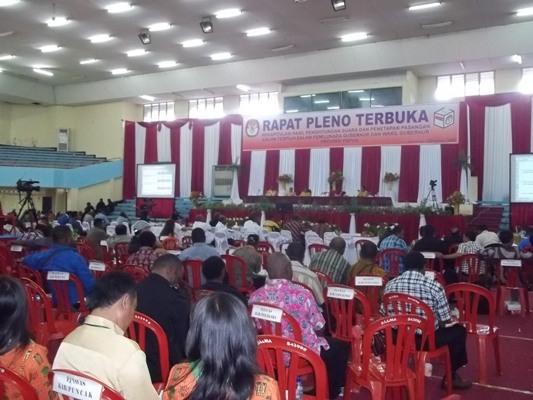 Hasil Rapat Pleno KPU Papua: Lukas Enembe Calon Gubernur Terpilih