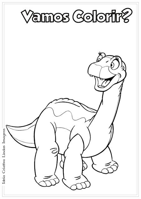 Dinossauro para colorir Em busca do vale encantado