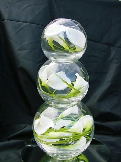 Ribbons and ruffles dollar store bride for Dollar tree fish bowls