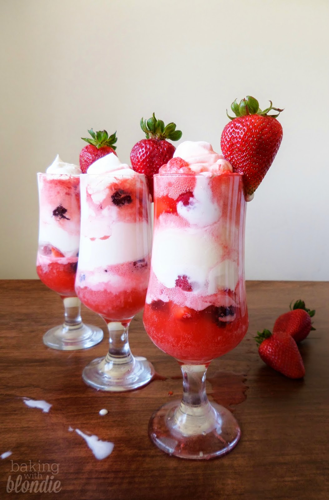 Berries & Cream Floats