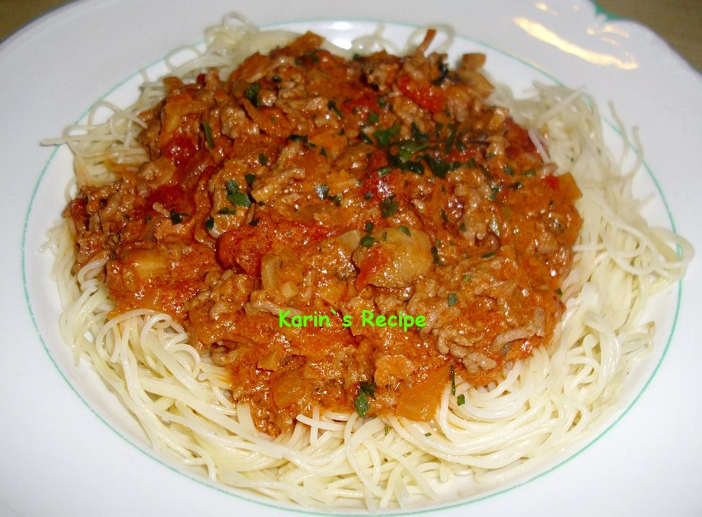 Karin`s Recipe: Spaghetti Bolognese