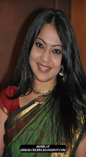 vijay tv actress ramya in silk saree