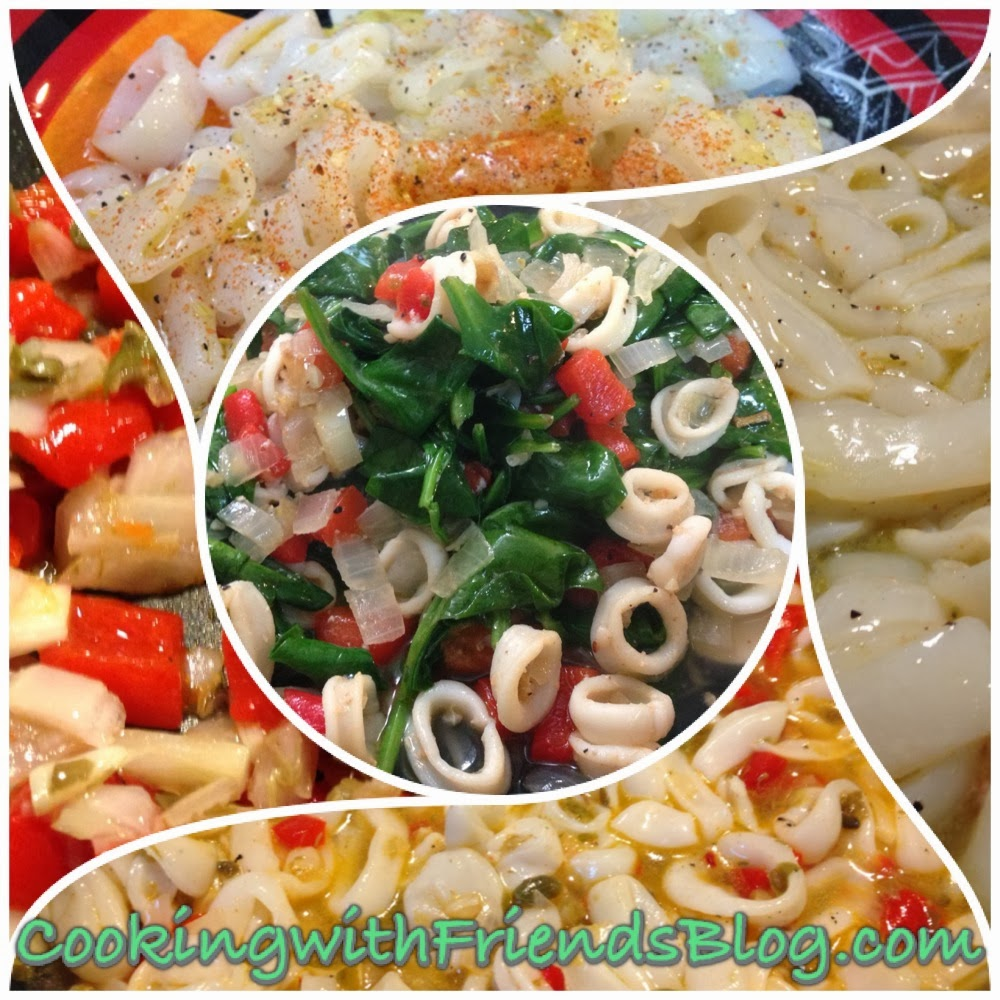 Cooking With Friends: Warm Calamari Salad ~ Healthy Choices