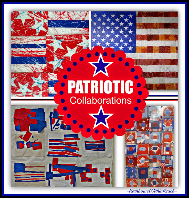 "Patriotic Children's Art Collaborations in Response to ""Red, White and Blue"" by Debbie Clement"