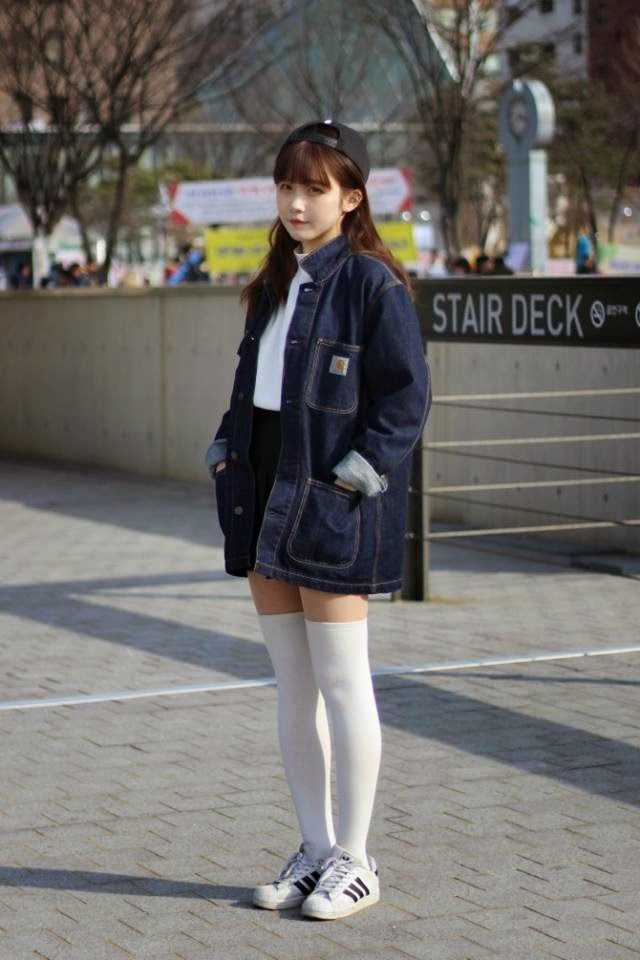 Korean street fashion official korean fashion Fashion style girl tumblr 2015