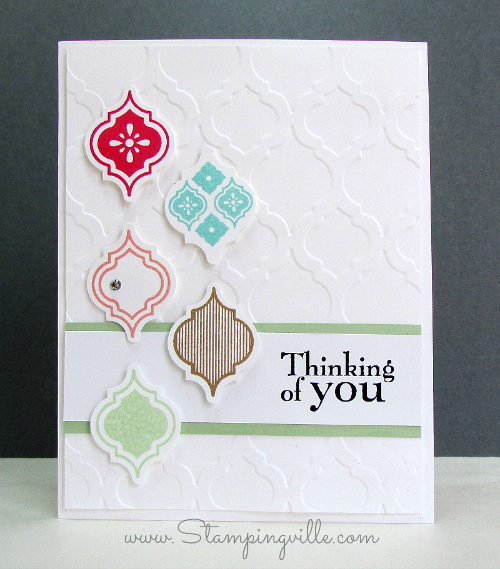 Mosaic Madness Thinking of You Card