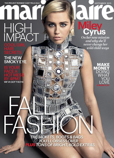 Miley Cyrus Marie Claire Magazine September 2015