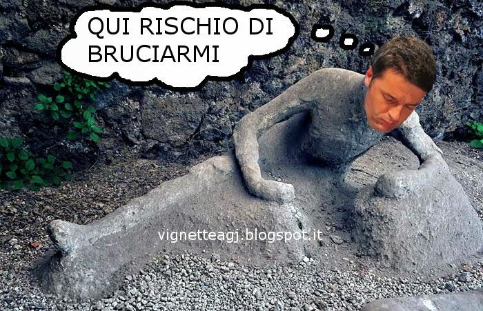 Renzi, pompei, indesit, satira, sfottomontaggio